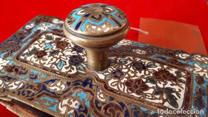 Antigüedades: SECANTE DE ESMALTE SIGLO XIX. - Foto 5 - 210240960