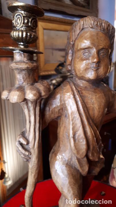 Antigüedades: CANDELABRO DE MADERA.PRINCIPIOS DE SIGLO XX - Foto 2 - 210246467