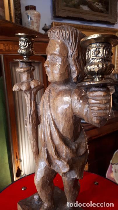 Antigüedades: CANDELABRO DE MADERA.PRINCIPIOS DE SIGLO XX - Foto 4 - 210246467