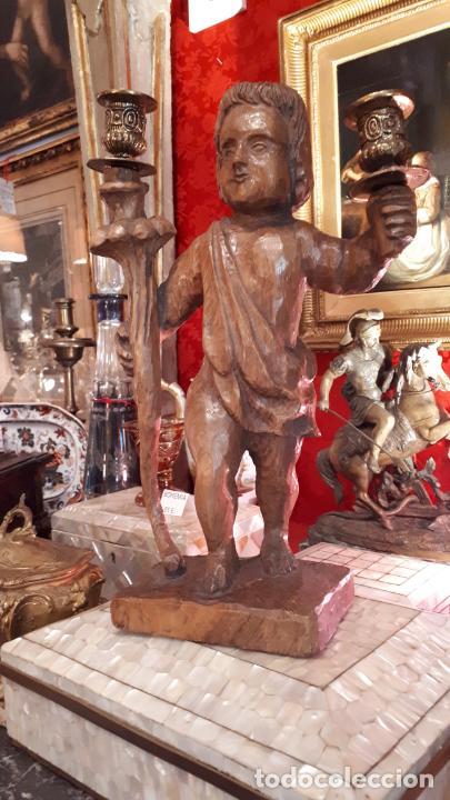 Antigüedades: CANDELABRO DE MADERA.PRINCIPIOS DE SIGLO XX - Foto 8 - 210246467