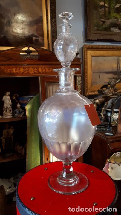 RARA BOTELLA DE DOBLE LICORERA. S.XIX. (Antigüedades - Cristal y Vidrio - La Granja)