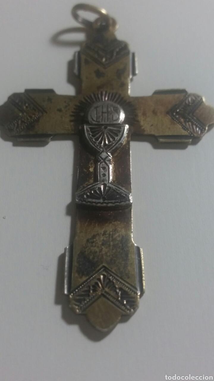 CRUCIFIJO DE PLATA AÑOS 40/50 (Antigüedades - Religiosas - Crucifijos Antiguos)