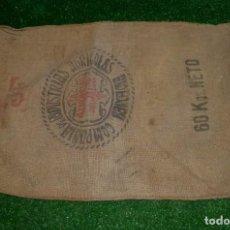 Antigüedades: SACO DE ARPILLERA.COMPAÑÍA DE INDUSTRIAS AGRÍCOLAS - BARCELONA - LA AZUCARERA DEL JALON.95 X 60 CM.. Lote 210258160