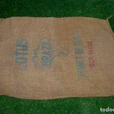 Antigüedades: SACO DE ARPILLERA-LOTUS-BRAZIL-PRODUCT OF BRAZIL.93 X 62 CM.. Lote 210258260