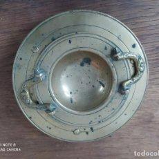 Antigüedades: PEQUEÑO ANTIGUO BRASERO DE BRONCE DE DECORACIÓN. VITRINA 1. Lote 210269368