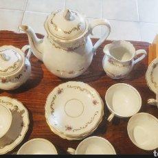 Antigüedades: PRECIOSO JUEGO DE CAFÉ DE PORCELANA ALEMANA JAGER. Lote 210273985