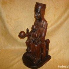 Antigüedades: TALLA DE MADERA (VIRGEN DE MONTSERRAT). Lote 210275270