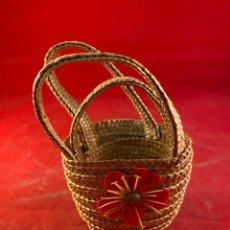 Antigüedades: CESTA DE MIMBRE. Lote 210278666