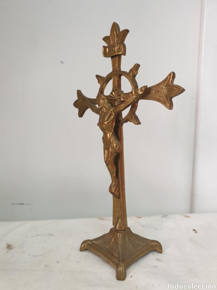 Antigüedades: Crucifijo de despacho - Foto 2 - 210279390