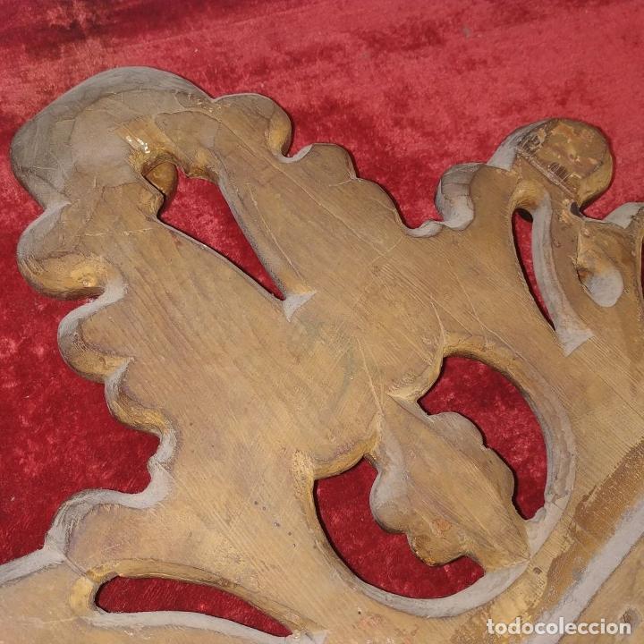 Antigüedades: CORNUCOPIA. MADERA TALLADA Y DORADA A LA HOJA DE ORO. ESPAÑA. SIGLO XIX-XX - Foto 13 - 210279395