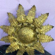 Antigüedades: ANTIGUA LÁMPARA DE SOL HIERRO. Lote 210301815