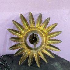 Antigüedades: LÁMPARA DE SOL SIN CABLE NI CRISTAL. Lote 210302183