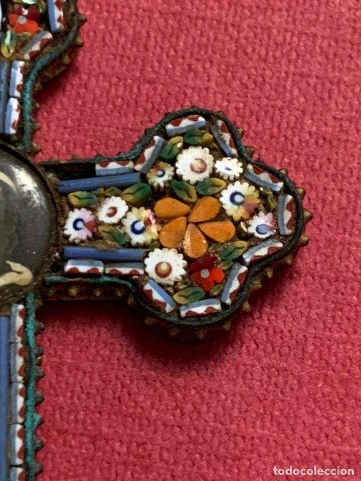 Antigüedades: Preciosa cruz de roma en micromosaico. Foto de su santidad el Papa de Roma - Foto 6 - 210302402
