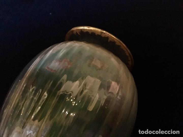 Antigüedades: Pareja de decantadores Cristal Veneciano Siglo XVIII - Foto 3 - 210325443
