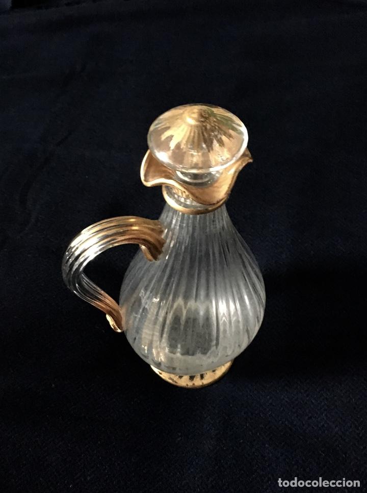 Antigüedades: Pareja de decantadores Cristal Veneciano Siglo XVIII - Foto 4 - 210325443