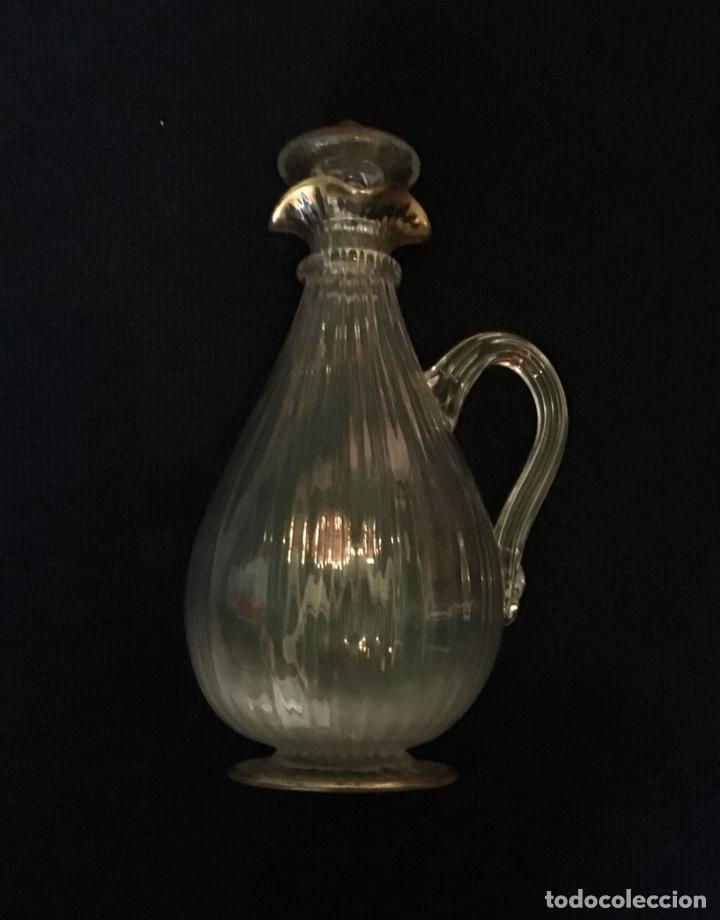 Antigüedades: Pareja de decantadores Cristal Veneciano Siglo XVIII - Foto 6 - 210325443