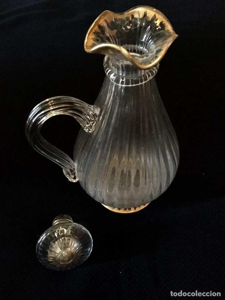 Antigüedades: Pareja de decantadores Cristal Veneciano Siglo XVIII - Foto 7 - 210325443
