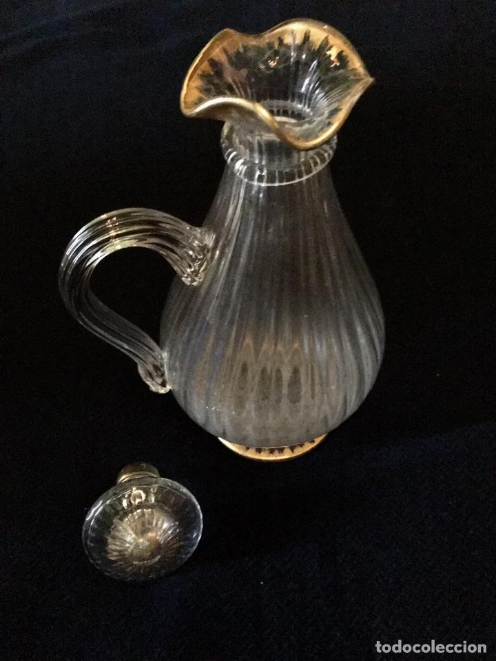 Antigüedades: Pareja de decantadores Cristal Veneciano Siglo XVIII - Foto 10 - 210325443