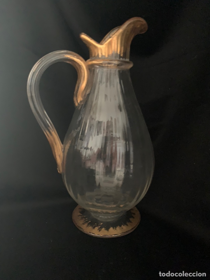 Antigüedades: Jarra de agua Cristal Veneciano Siglo XVIII - Foto 4 - 210326593