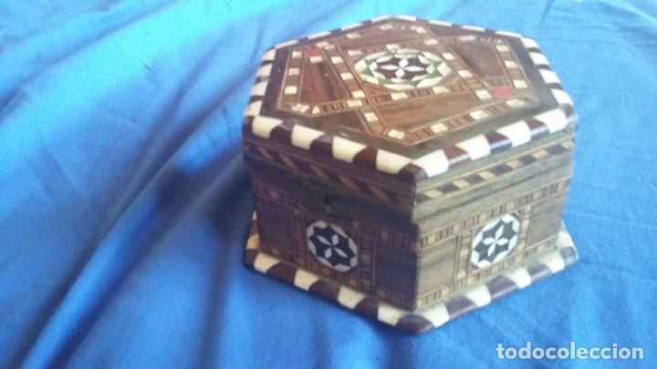 Antigüedades: caja joyero taracea granadina - Foto 3 - 210332920