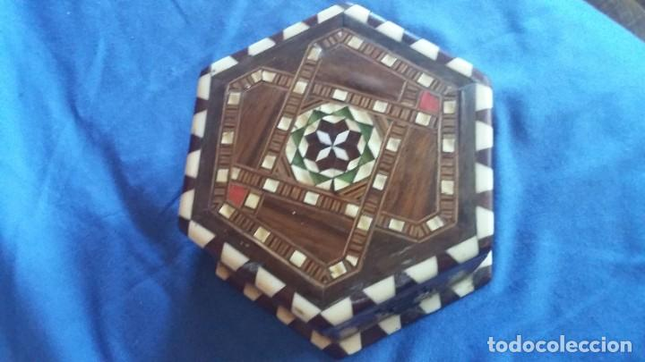 Antigüedades: caja joyero taracea granadina - Foto 5 - 210332920