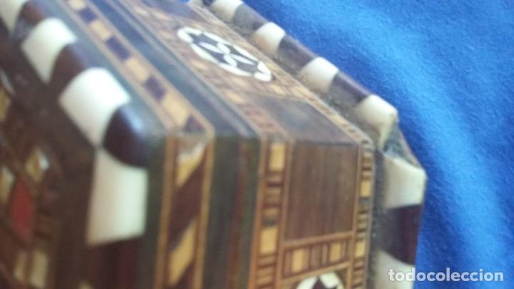 Antigüedades: caja joyero taracea granadina - Foto 7 - 210332920