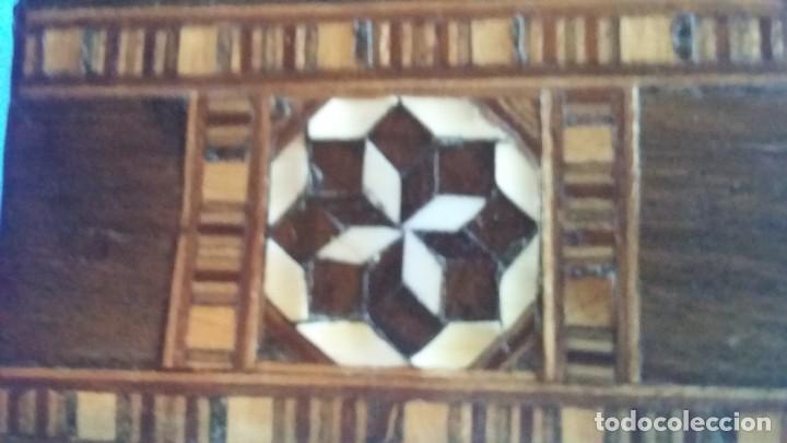 Antigüedades: caja joyero taracea granadina - Foto 8 - 210332920