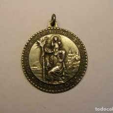 Antigüedades: MEDALLA RELIGIOSA ANTIGUA DE SAN CRISTOBAL, TARRAGONA, AÑO 1948.. Lote 210333202