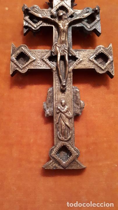 Antigüedades: CRUZ DE CARAVACA. SIGLO XVIII-XIX. - Foto 5 - 210336127