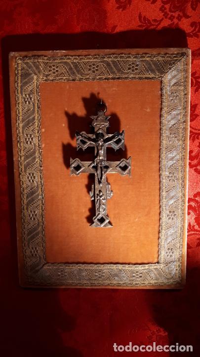 Antigüedades: CRUZ DE CARAVACA. SIGLO XVIII-XIX. - Foto 6 - 210336127