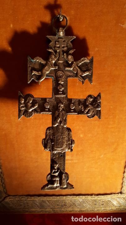 Antigüedades: CRUZ DE CARAVACA. SIGLO XVIII-XIX. - Foto 7 - 210336127