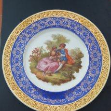 Antigüedades: PLATO DE PORCELANA LIMOGES FRANCIA GOUMONT LABESSE. Lote 210342843