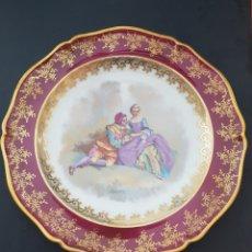 Antigüedades: PLATO DE PORCELANA LIMOGES FRANCIA M. T. NICOLAS. Lote 210343153