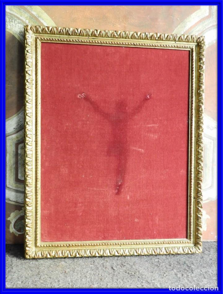 CUADRO MARCO DE MADERA ENTELADO PARA EXPONER PIEZAS (Antigüedades - Hogar y Decoración - Marcos Antiguos)
