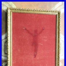 Antigüedades: CUADRO MARCO DE MADERA ENTELADO PARA EXPONER PIEZAS. Lote 210355561