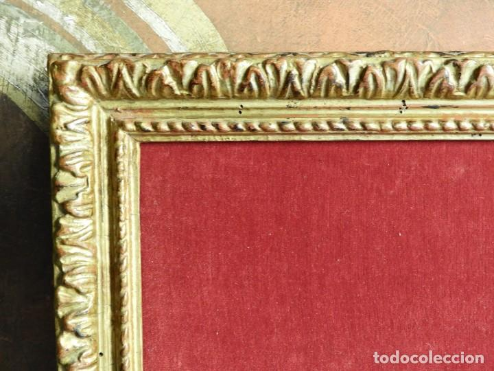 Antigüedades: CUADRO MARCO DE MADERA ENTELADO PARA EXPONER PIEZAS - Foto 2 - 210355561