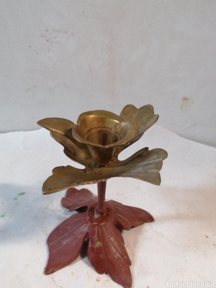 Antigüedades: Candelabro flor - Foto 2 - 210357150