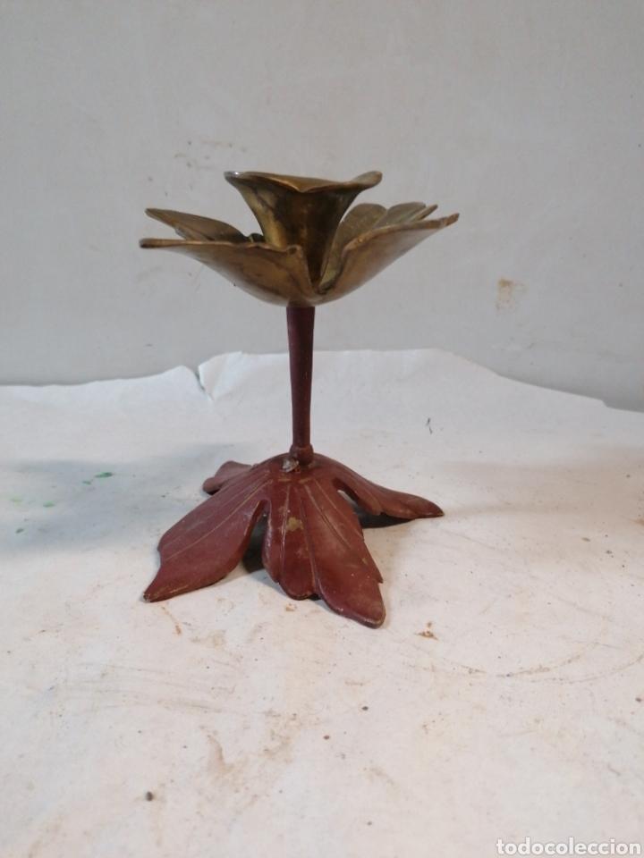 Antigüedades: Candelabro flor - Foto 3 - 210357150