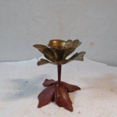 Antigüedades: CANDELABRO FLOR. Lote 210357150