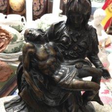 Antigüedades: FIGURA BRONCE LA PIEDAD. Lote 210378515