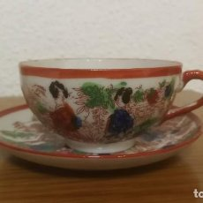 Oggetti Antichi: 1 SERVICIO ANTIGUO DE TÉ EN PORCELANA ( TRADE MARK MADE IN JAPAN ) KUTANI. Lote 210380381