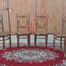 Antigüedades: 4 CUATRO SILLAS ANTIGUAS ESTILO THONET MARCHA FISCHEL.. Lote 210422567
