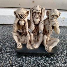 Antigüedades: FIGURA LOS TRES MONOS SABIOS. Lote 210425071