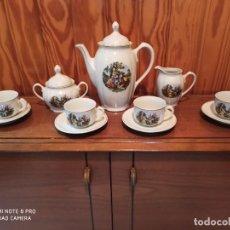 Antigüedades: JUEGO CAFÉ PORCELANA SANTA CLARA. Lote 210435567