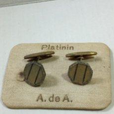 Antigüedades: GEMELOS PLATININ. Lote 210439177