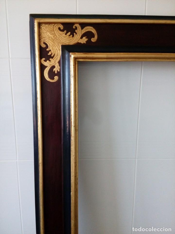Antigüedades: Marco.Medida interior 65x80 exterior 90x115 - Foto 12 - 210448650