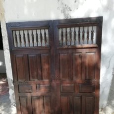 Antigüedades: ANTIGUAS PUERTAS DE ROBLE MACIZAS. Lote 210450970