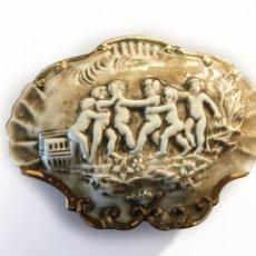 Antigüedades: CAJA JOYERO CERAMICA O PORCELANA - CAPODIMONTE ITALY. Lote 210451638