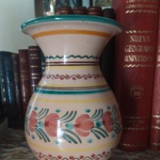Antigüedades: FLORERO CERÁMICA TALAVERA, PUENTE DEL ARZOBISPO. Lote 210456506