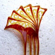 Antigüedades: ADORNO PARA EL CABELLO ART DECO ADORNO PARA EL CABELLO CON DISEÑO RETORCIDO INUSUAL. Lote 210459097